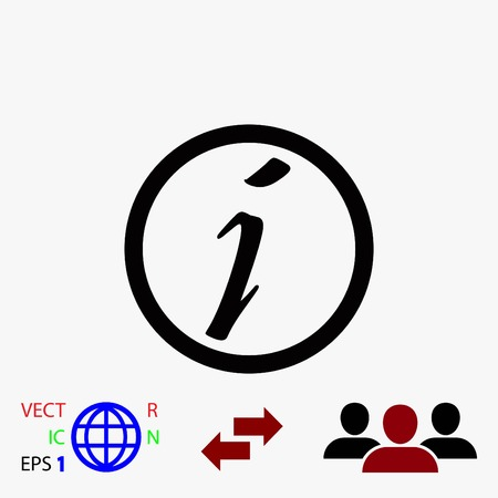 inform information: Information sign vector icon, flat design best vector icon Illustration