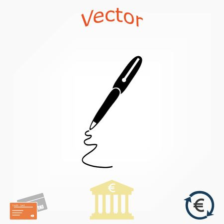 pen icon vector, flat design best vector icon