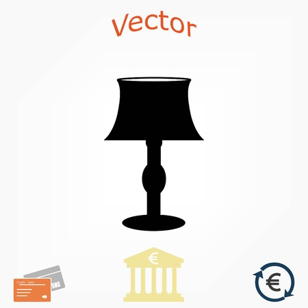 desk lamp: table lamp icon, flat design best vector icon