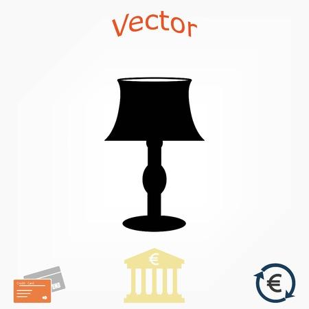 tafellamp pictogram, platte ontwerp beste vector icon