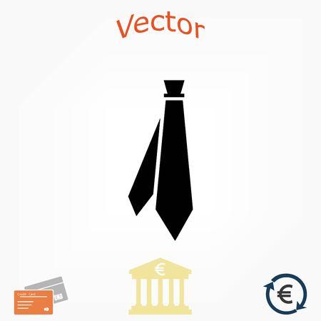 ネクタイのアイコン ベクトル、フラットなデザイン最高のベクトルのアイコン