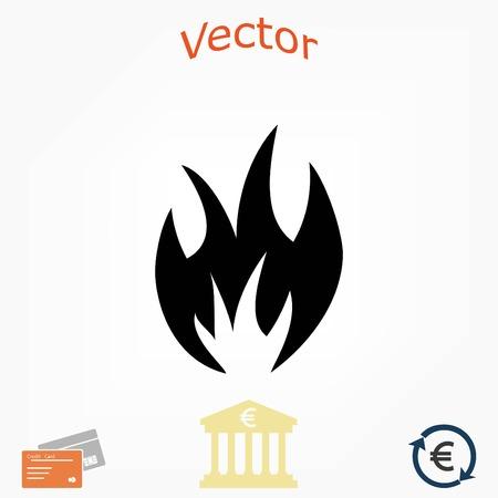 fire icon vector, flat design best vector icon Illustration