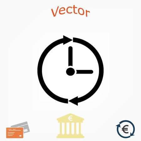 clock icon vector, flat design best vector icon