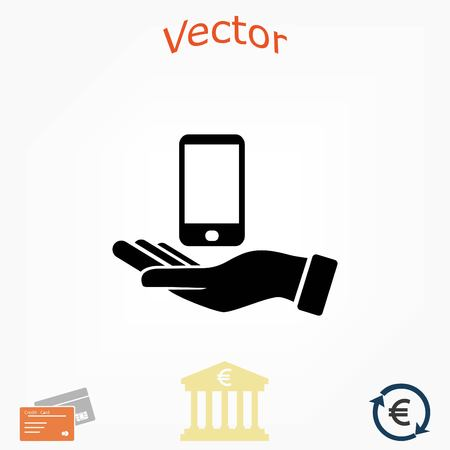 Capture Mobile icon, flat design best vector icon Illustration