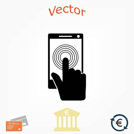 Smartphone icon vector, flat design best vector icon Illustration