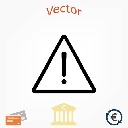 warning roadsign vector icon, flat design best vector icon