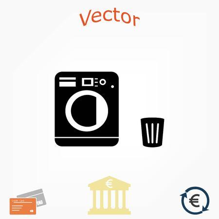 Laundry icons vector, flat design best vector icon Illusztráció