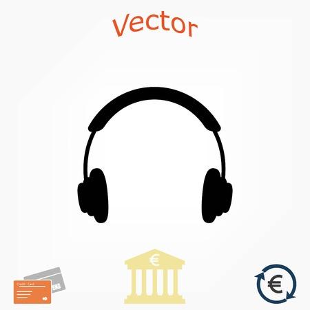 headphone icon vector, flat design best vector icon