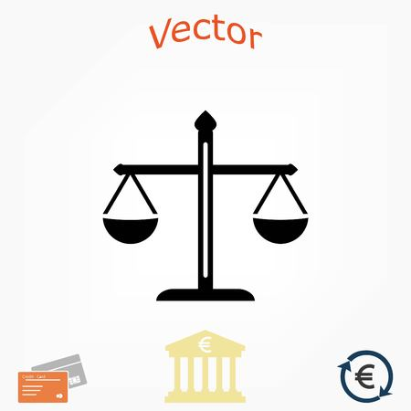 scale of justice: scale icon vector, flat design best vector icon