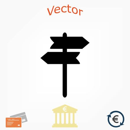 Wegweiser Vektor Icon, flaches Design beste Vektor Icon Standard-Bild - 82949342
