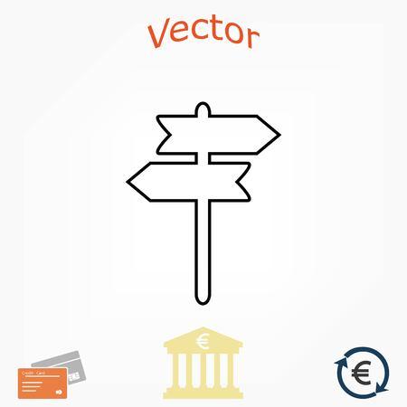 signpost vector icon, flat design best vector icon