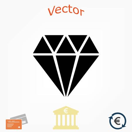 Diamond vector icon, flat design best vector icon Illustration