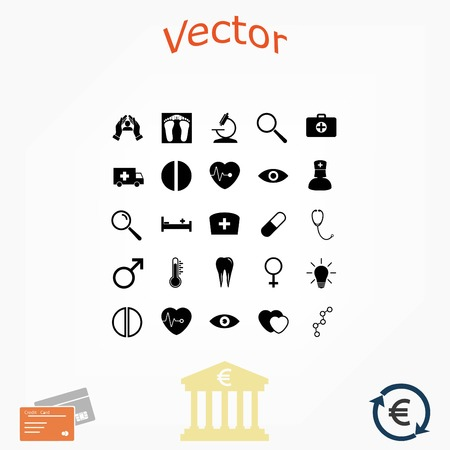 Medical Icons, flat design best vector icon