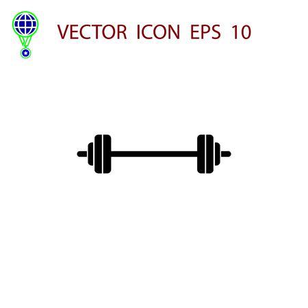 Barbell icon vector, flat design best vector icon Stock Vector - 84436220
