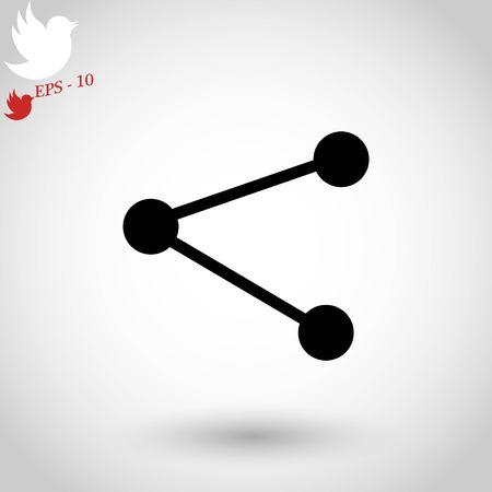 share icon vector, flat design best vector icon Illustration