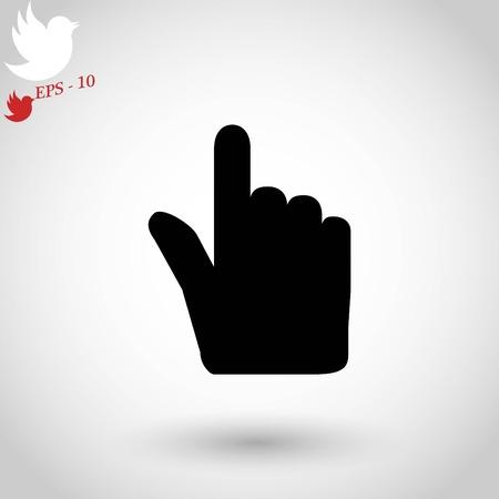 Icône de vecteur de curseur main, design plat meilleure icône de vecteur Banque d'images - 84436985