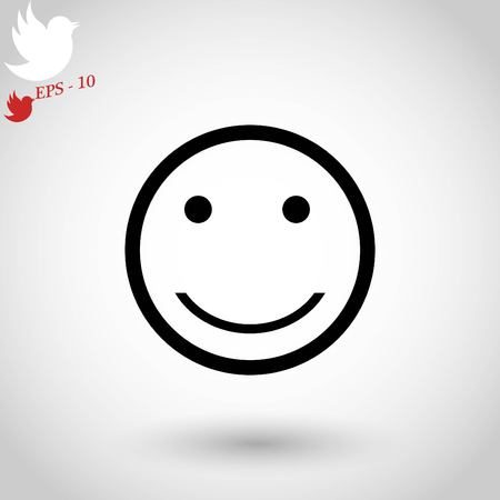 silent: smiles icon vector, flat design best vector icon Illustration