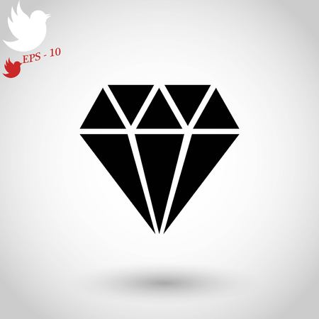spoil: Diamond icon isolated on white background, vector illustration.