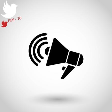 Loudspeaker icon vector.