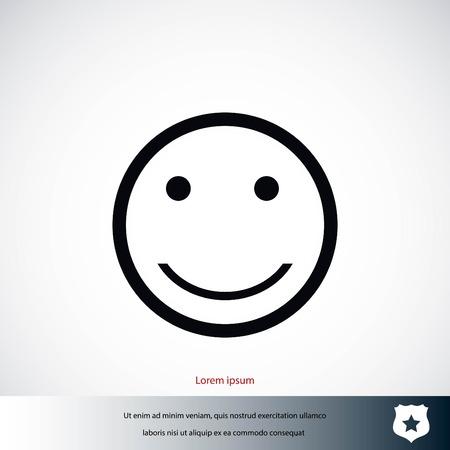 smiles icon vector, flat design best vector icon Banco de Imagens - 85718184