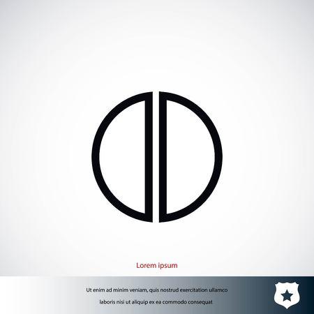 pharmacy symbol: pill icon vector, flat design best vector icon Illustration
