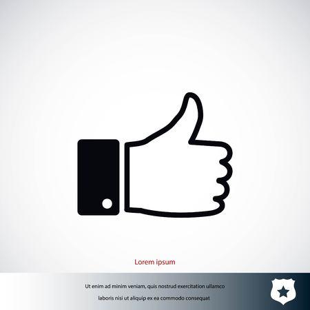 hand good vector, flat design best vector icon