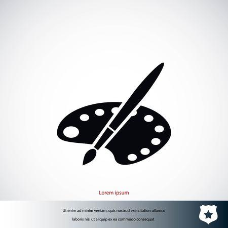 verf vector pictogram, platte ontwerp beste vector pictogram