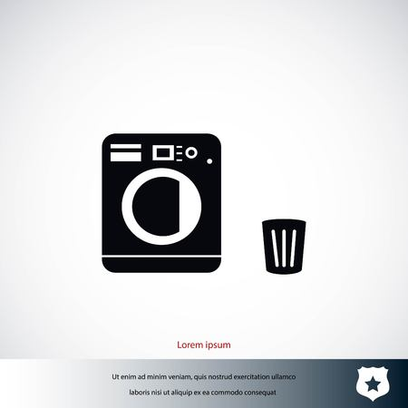 Laundry icons vector, flat design best vector icon Иллюстрация