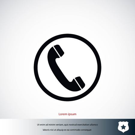 Telephone reciver vector icon, flat design best vector icon