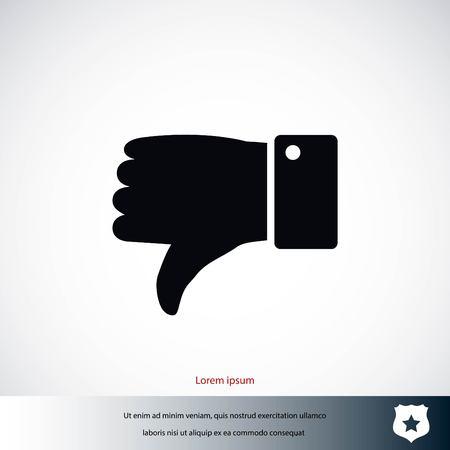 great: hand. good vector, flat design best vector icon Illustration