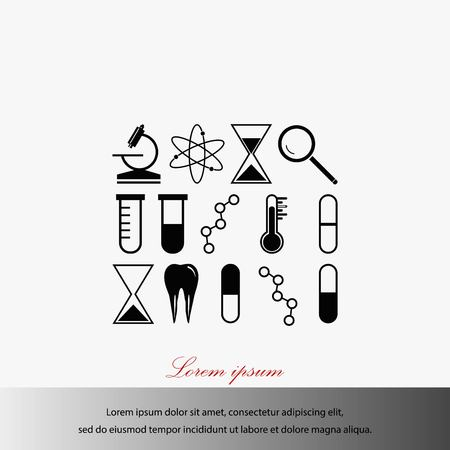 A science icon vector, flat design best vector icon