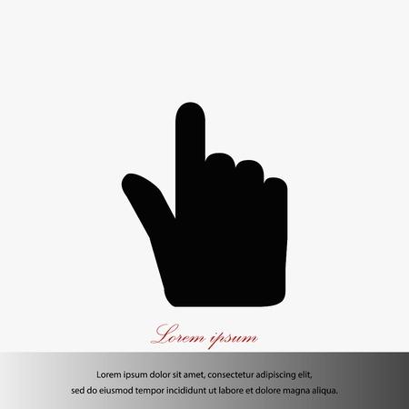 Cursor de la mano del vector del diseño del mejor icono del vector de mejor plana Foto de archivo - 85720868