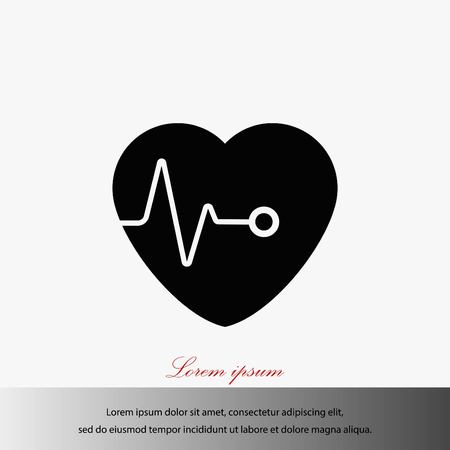 details: hearts vector icon, flat design best vector icon