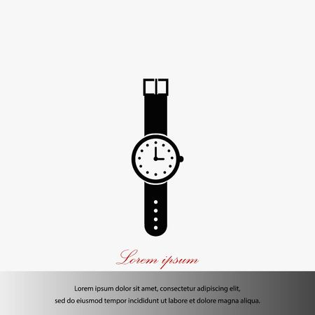 A wrist watch icon vector, flat design best vector icon