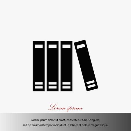 Libro icona vettore, piatto disegno migliore icona vettoriale Vettoriali