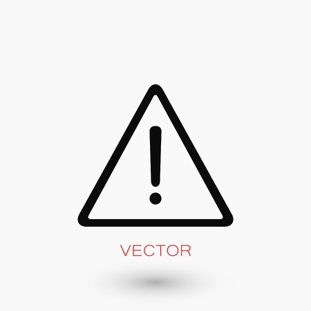 Warning road sign vector icon, flat design best vector icon. 向量圖像