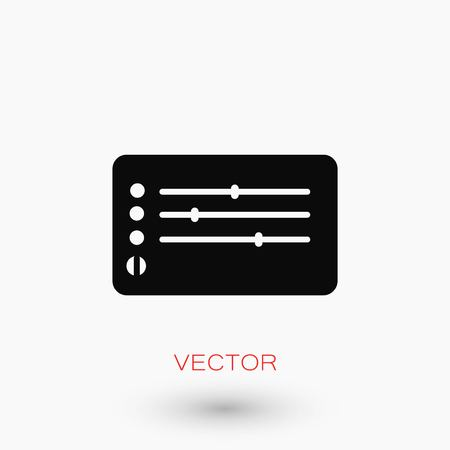 pause button: Media players icon, flat design best vector icon. Illustration