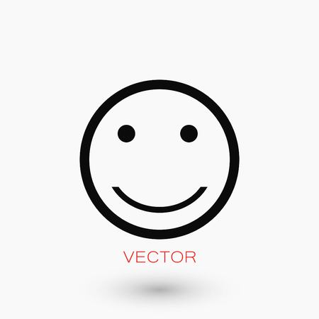 Smiles icon vector, flat design best vector icon.