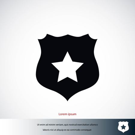 Shield sign vector icon, flat design best vector icon