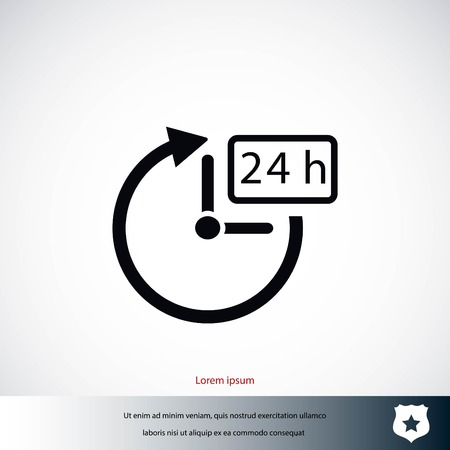 24 hours icon vector, flat design best vector icon