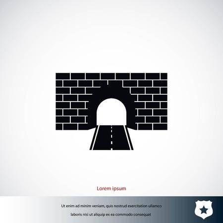 Tunnel icon vector, flat design best vector icon Illusztráció
