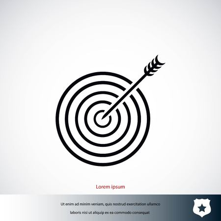 Target icon vector, flat design best vector icon