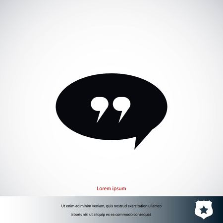 Quote icon vector, flat design best vector icon 일러스트