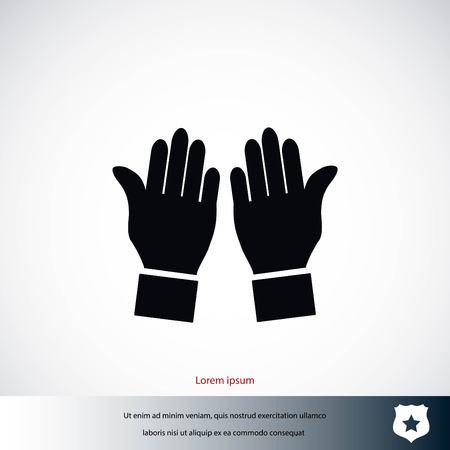 Hand vector icon, flat design best vector icon Ilustrace