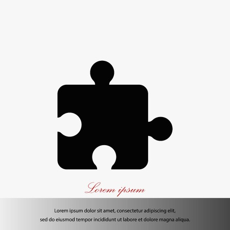 Puzzle icon vector, flat design best vector icon illustration.