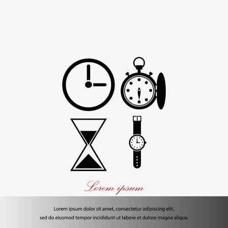 Warches icons vector, flat design best vector icon Illustration