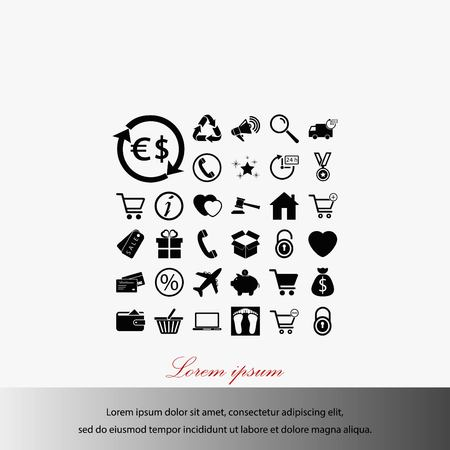 Shopping icons vector, flat design best vector icon illustration.