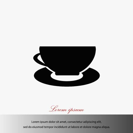 Coffee Icon vector, flat design best vector icon