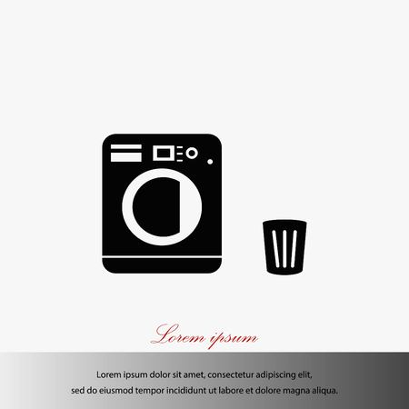 세탁 아이콘 벡터, 평면 디자인 최고의 벡터 아이콘 그림입니다.