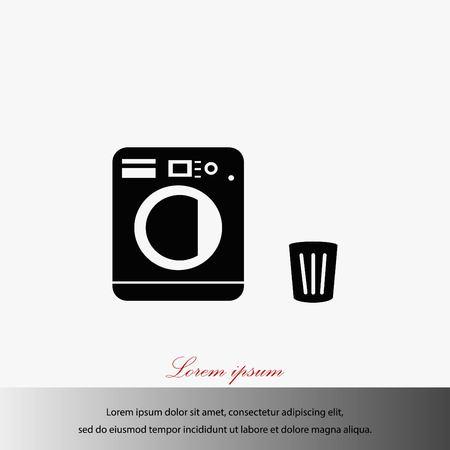Laundry icons vector, flat design best vector icon illustration. Illustration